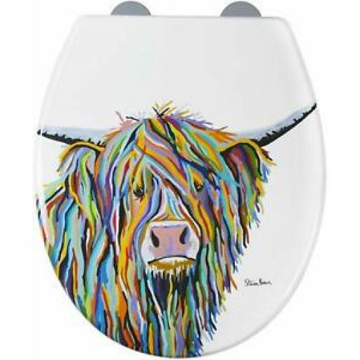 Croydex Toilet Seat Angus McCoo Art by Steven Brown WL604022