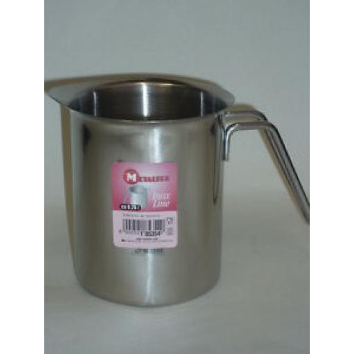 Metaltex Stainless Steel Cream Milk Frothing Jug 0.7L 700ml