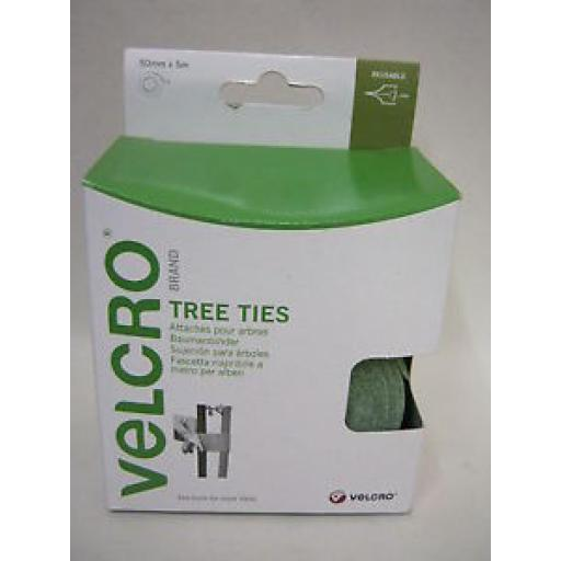 Velcro Tree Plant Ties Staking Straps 5m x 50mm 60201 Green