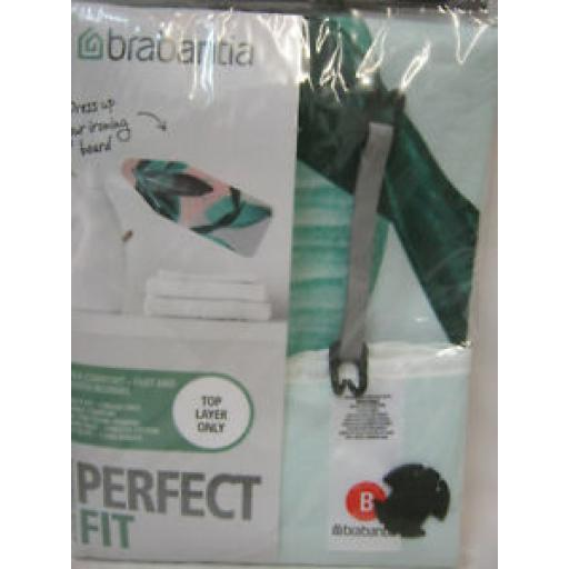 Brabantia Cotton Ironing Board Cover B 124cm x 38cm Green Leaves