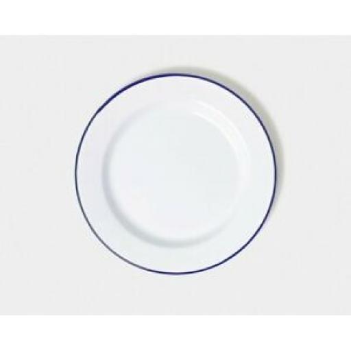 Falcon White Enamel Round Pie Dinner Plate Baking Dish Tin 20cm