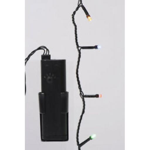 Durawise LED Battery Twinkle Lights Black Cable 24 Lights Multi Coloured 497106