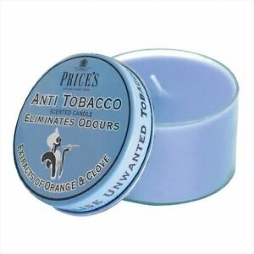 Prices Wax Scented Candle Eliminates Tobacco Odours Tin