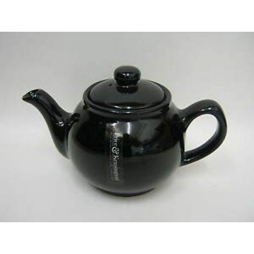 Price And Kensington Small Pot Teapot 2 Cup Black Gloss 0056.745