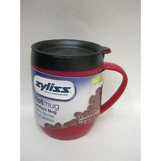 DKB Zyliss Smart Cafe Hot Mug Cup Coffee Cafetiere Red