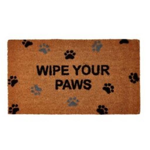 Groundsman Coir Doormat Door Mat Wipe Your Paws 40cm x 70cm GMDM80