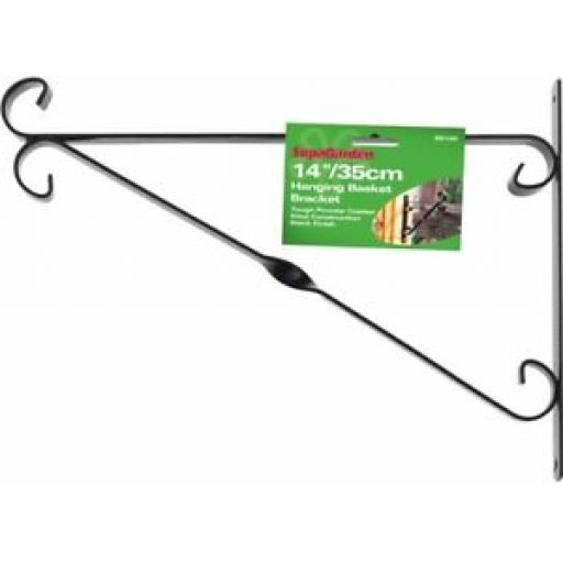 "Ambassador Garden Hanging Basket Bracket 14"" 35cm Black SB14B"