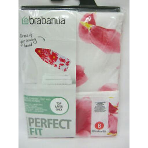 Brabantia Cotton Ironing Board Cover B 124cm x 38cm Pink Santini