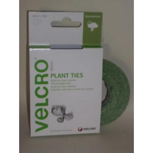 Velcro Plant Ties Staking Trellis Training Green 5m x 12mm Rolls 60202