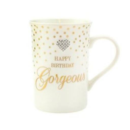 Lesser And Pavey Mug Beaker Coffee Tea Happy Birthday Gorgeous Diamonte LP33696