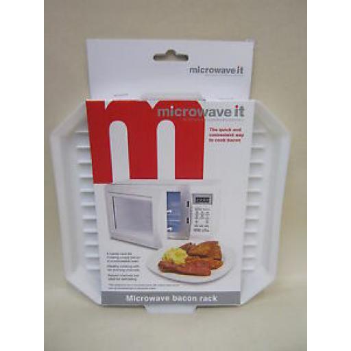 Microwave It Microwaveable Plastic Cooker Crispy Bacon Crisper Rack