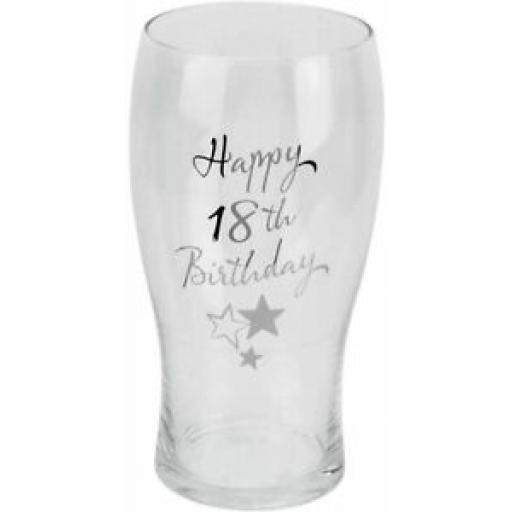 Juliana Happy 18th Birthday Beer Glass 1 Pint G31918