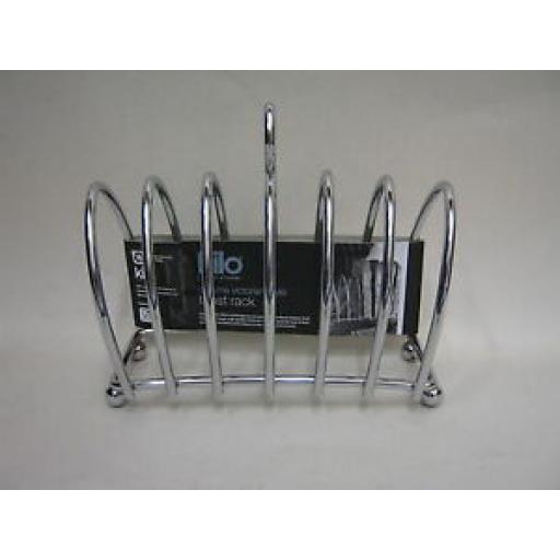 Kilo Chrome Victorian Shaped Toast Rack BA51