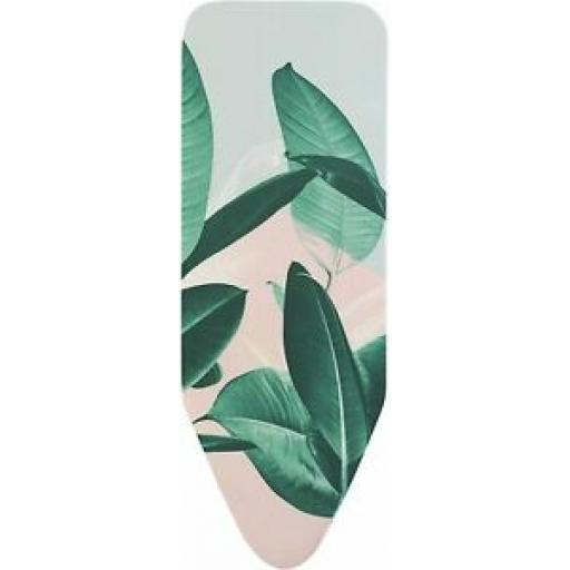 Brabantia Cotton Ironing Board Cover C 124cm x 45cm Green Leaves