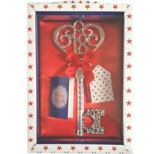 Tulip Birthday Key 18th Birthday's Red Material With Red Ribbon