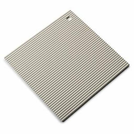 CKS Zeal Heat Resistant Silicone Kitchen Hot Mat Square Trivet J310 Cream 22cm
