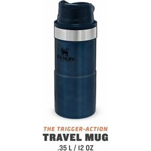 Stanley Vacuum Bottle Stainless Steel Travel Mug Jar 0.35L Midnight Blue