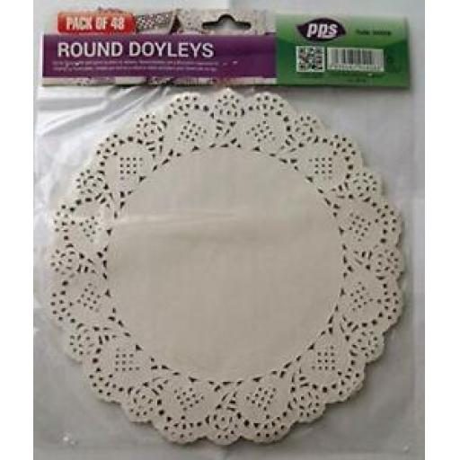 """Party Solutions White Paper Round Doylies 8.5"""" 21.5cm Pk40"""
