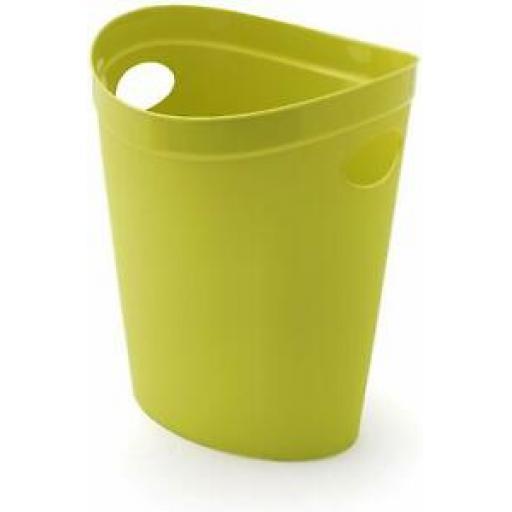 Addis Flexi Multi Storage Plastic Oval Waste Paper Bin Lime Green 514805