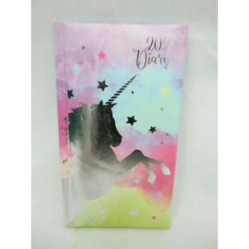 Tallon Padded Slim Diary 2021 Unicorn