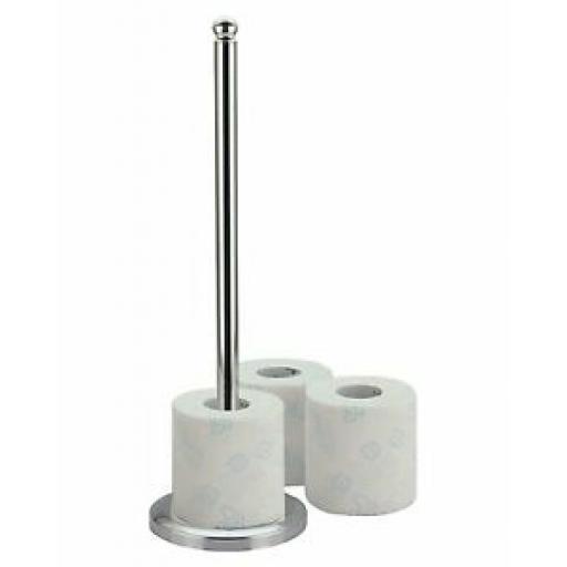 Sunnex Tall Multi Toilet Roll Holder Chrome Finish 45cm CR/MTRH