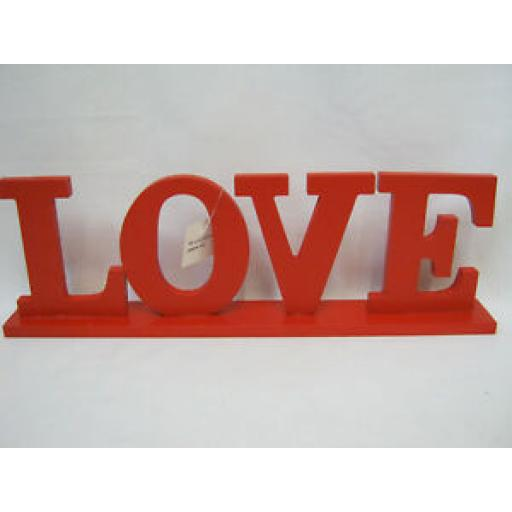 CB Imports Red Wooden Love Decoration Display Sign HUA77
