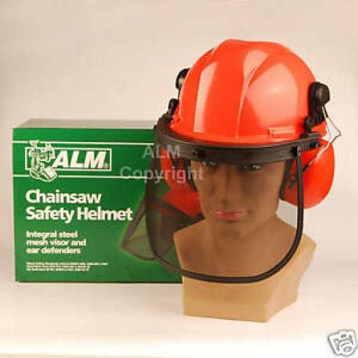 ALM Chainsaw Helmet Hard Hat Face Guard Ear Defenders Safety CH011