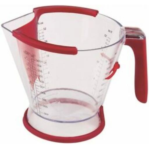 Zyliss Measuring Jug with Gravy Separator, Red, 1 Litre E970038