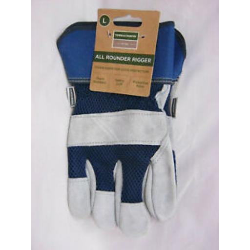 Town And Country Gardening Gloves Glove All Round Rigger Mens TGL410 L Blue