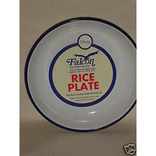 Falcon White Enamel Round Pie Rice Plate Baking Dish Tin 18cm
