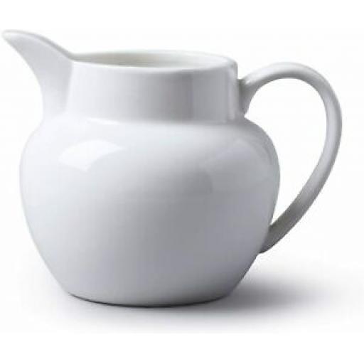 Wm Bartleet White Porcelain Bellied Milk Jug 360ml 3/4 Pint T424