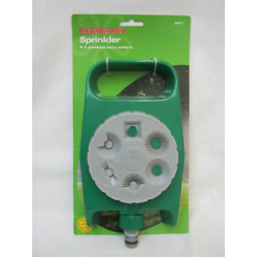 Supagarden Water Garden Sprinkler 6 Spray Patterns SHS17