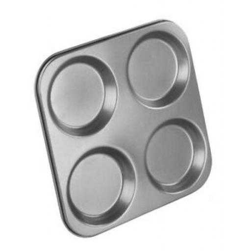 Chef Aid Bakeware Black 4 Hole Yorkshire Pudding Tin Tray 10E10323