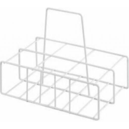 Supahome Wire White Plastic Milk Bottle Pint Carrier Crate Holder 6 Six Pints
