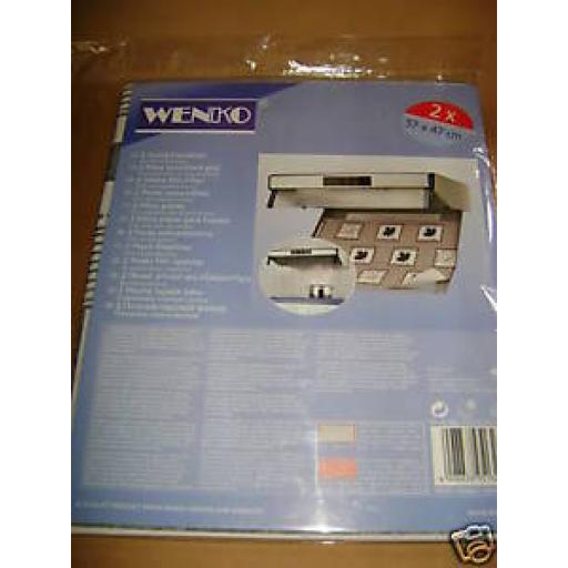 Wenko Steam Hood Hob Fat Cooker Flat Filter 57 x 47cm Pk2