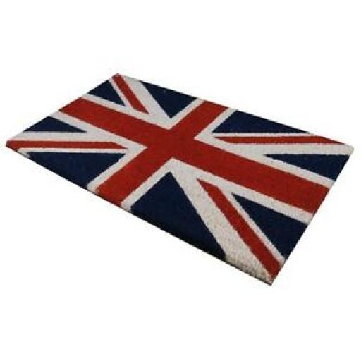 JVL PVC Backed Novelty Coir Door Mat Doormat Union Jack Flag