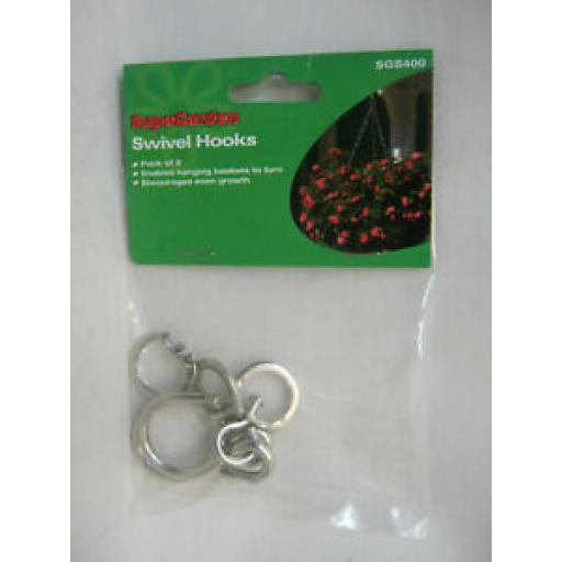 Supagarden Swivel Hooks For Hanging Basket Pk2 Enables Baskets To Turn
