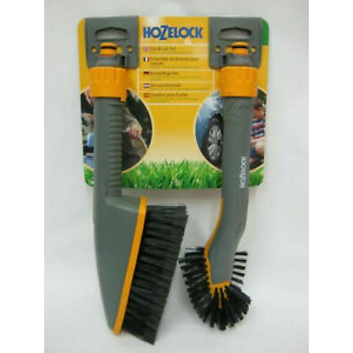Hozelock Car Brush Set For Hozepipes Twin Pack 2624