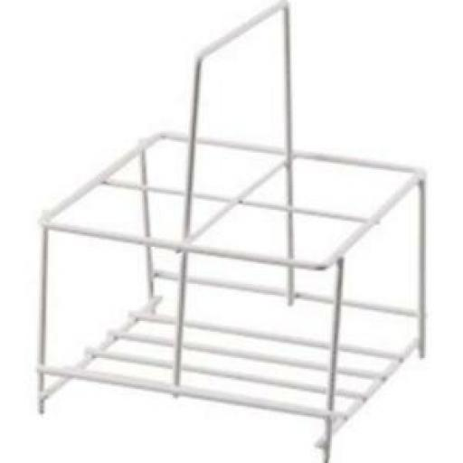 Supahome Wire White Plastic Milk Bottle Pint Carrier Crate Holder 4 Four Pints