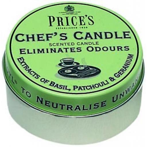 Prices Wax Scented Chefs Tin Lid Candle Eliminates Cooks Odours