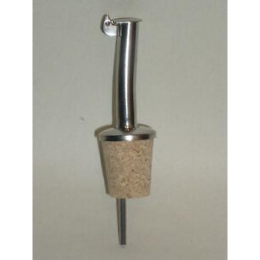 CKS Metal Olive Oil Spirit Pourer Spout Drizzler Cork Stopper J104