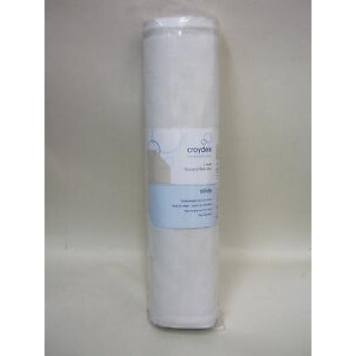 Croydex Rubber Bath Mat Large 37cm x 90cm White AG182622