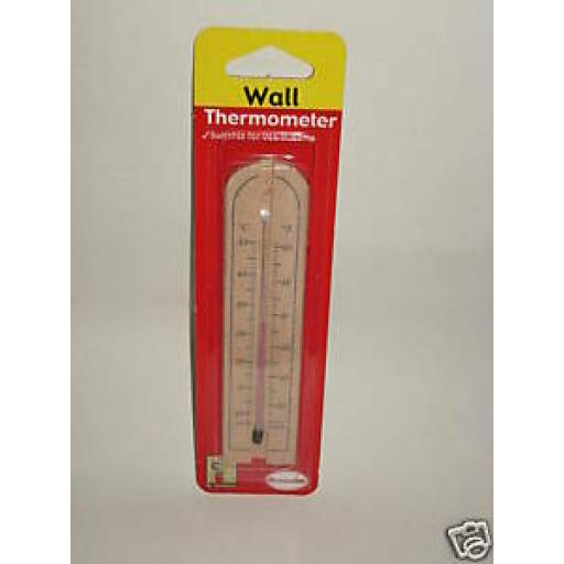 Brannan Wall Thermometer Wood Home And Garden Small 14.5cm