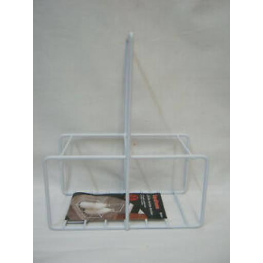 Supahome Wire White Plastic Milk Bottle Pint Carrier Crate Holder 2 Two Pints