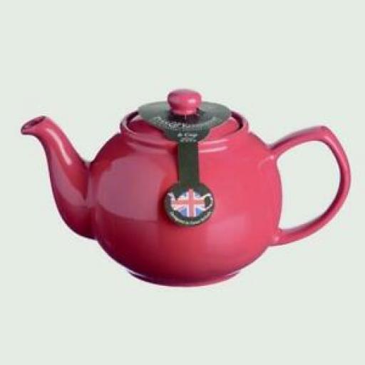 Price And Kensington Pot Teapot 6 Cup Tea Pot 0056.760 Red