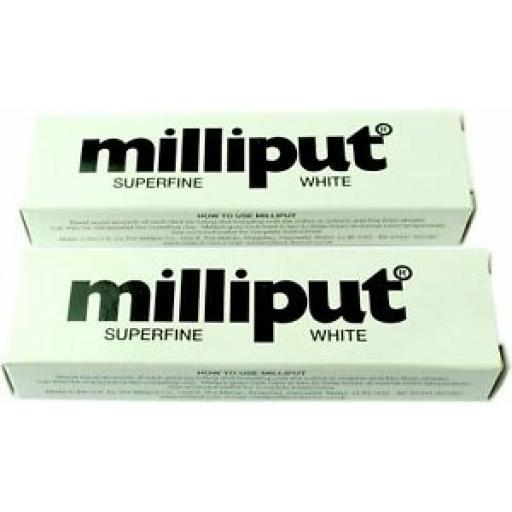 2 x Tubes Milliput 2 Part Epoxy Putty Superfine White