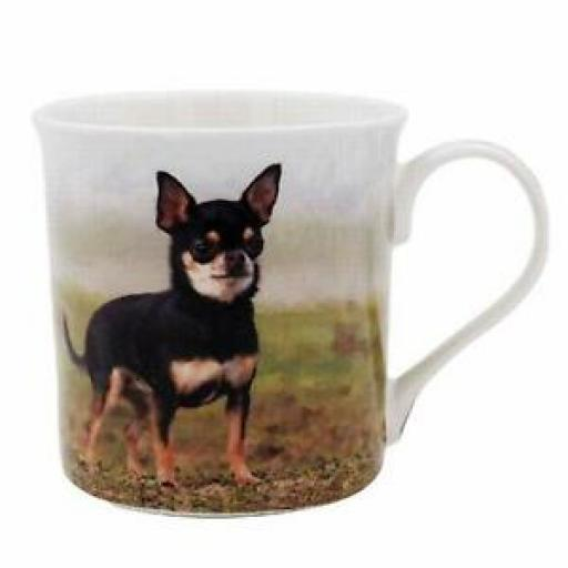 Lesser And Pavey Fine China Mug Beaker Coffee Tea Cup Chihuahua LP93588