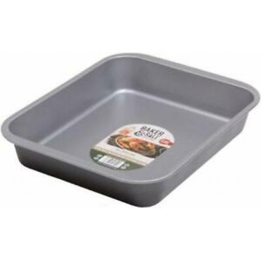 Baker And Salt Large Roaster Roasting Tin Tray 40.5cm Non Stick 55620