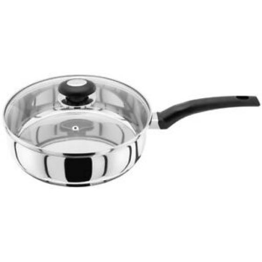 Judge Basics Stainless Steel Saute Pan With Vented Glass Lid 24cm HP18