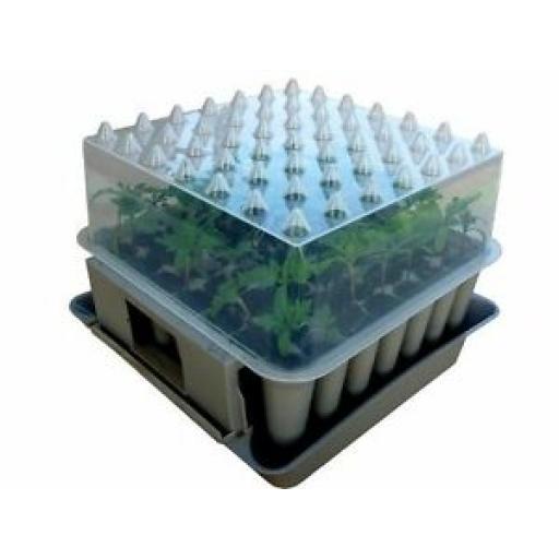 Agralan Compact 49 Plug Plant Stackable Self Watering Trainer HA100 Propagator